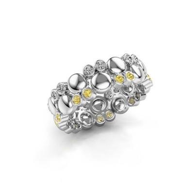 Foto van Ring Joanne 925 zilver gele saffier 1.4 mm