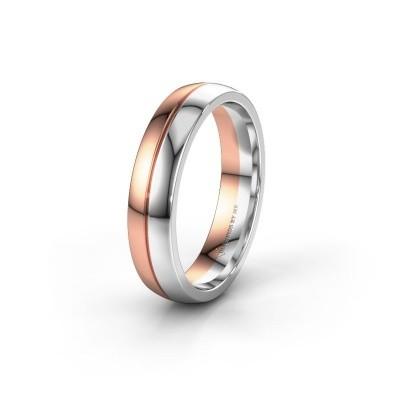 Wedding ring WH0200M25BP 585 rose gold ±0.20x0.08 in
