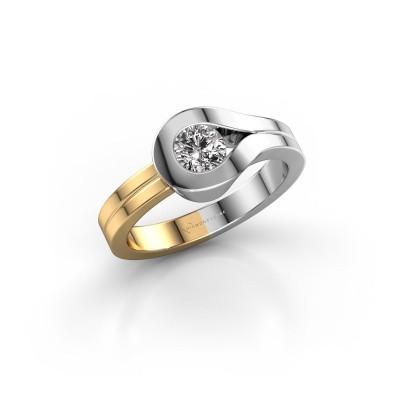 Bague Kiki 585 or blanc diamant 0.40 crt