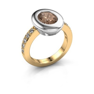 Ring Selene 2 585 gold brown diamond 1.80 crt