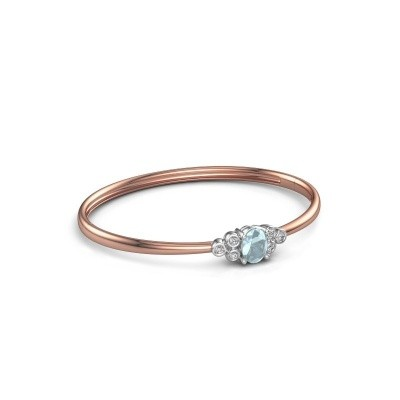 Picture of Bangle Lucy 585 rose gold aquamarine 8x6 mm