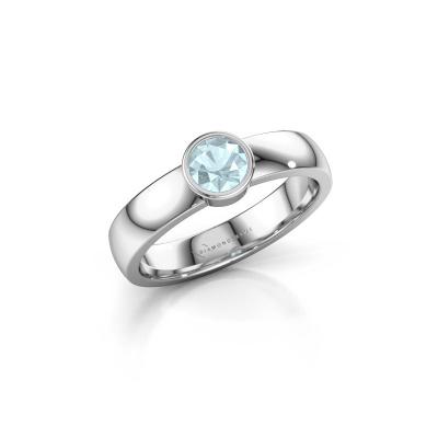 Ring Ise 1 585 witgoud aquamarijn 4.7 mm