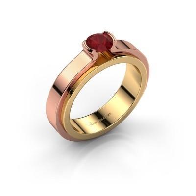 Foto van Verlovingsring Jacinda 585 goud robijn 4.7 mm