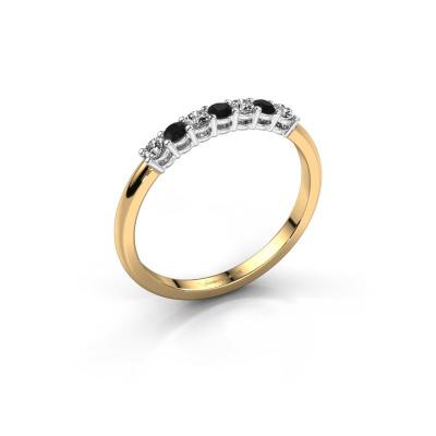 Engagement ring Michelle 7 585 gold black diamond 0.228 crt