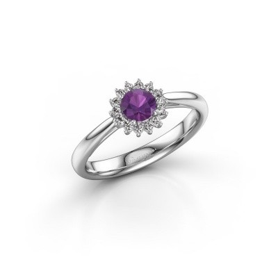 Engagement ring Tilly RND 1 585 white gold amethyst 4.2 mm