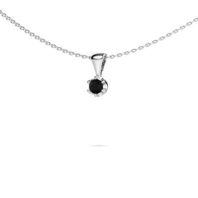 Foto van Ketting Fran 950 platina zwarte diamant 0.18 crt
