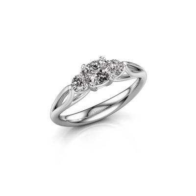 Verlovingsring Amie cus 925 zilver diamant 0.70 crt
