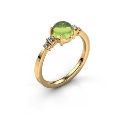 Ring Regine 585 gold peridot 6 mm