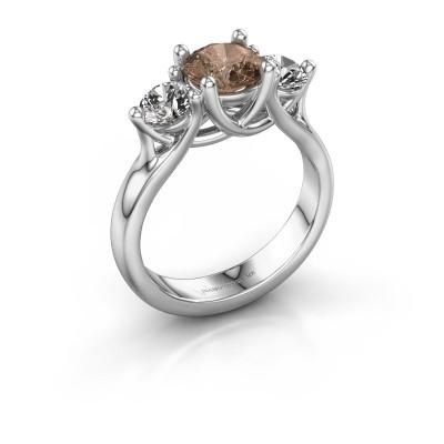 Engagement ring Esila 950 platinum brown diamond 1.70 crt