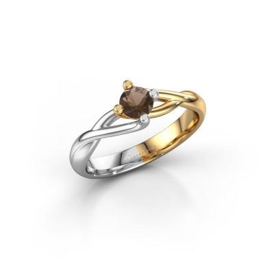 Foto van Ring Paulien 585 goud rookkwarts 4.2 mm