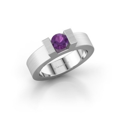 Picture of Ring Leena 1 585 white gold amethyst 5 mm