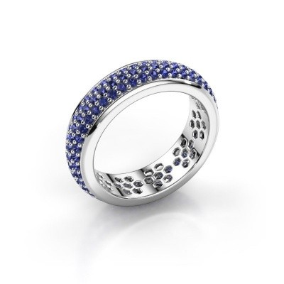Ring Tara 950 platina saffier 1.3 mm