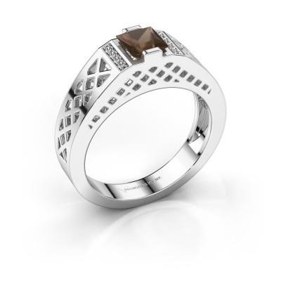 Foto van Heren ring Jonathan 925 zilver rookkwarts 5 mm