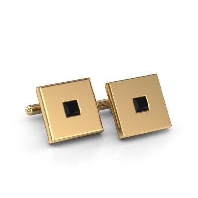 Cufflinks Givanti 585 gold black diamond 0.96 crt