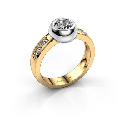 Foto van Ring Charlotte Round 585 goud lab-grown diamant 0.52 crt