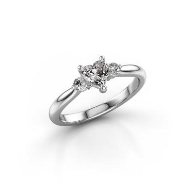 Foto van Verlovingsring Lieselot HRT 950 platina diamant 0.61 crt
