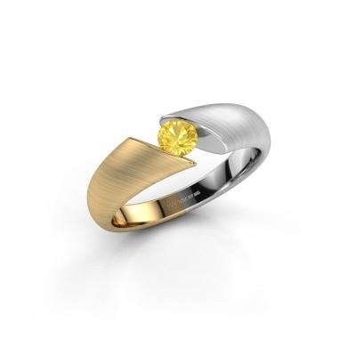 Foto van Verlovingsring Hojalien 1 585 goud gele saffier 4 mm