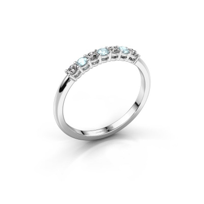 Engagement ring Michelle 7 925 silver aquamarine 2 mm