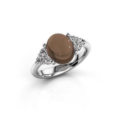 Foto van Ring Clarice 925 zilver rookkwarts 10x8 mm