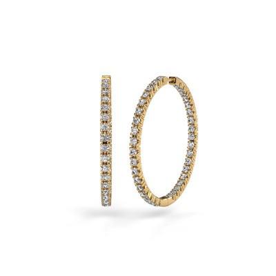 Picture of Hoop earrings Miki 30mm 375 gold zirconia 2 mm