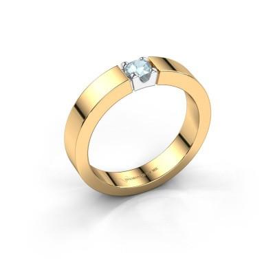 Foto van Belofte ring Dana 1 585 goud aquamarijn 3.7 mm