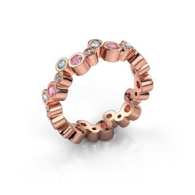 Foto van Ring Tessa 375 rosé goud roze saffier 2.5 mm