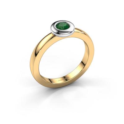 Ring Iris 585 gold emerald 4 mm
