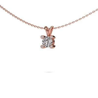 Foto van Hanger Fleur 375 rosé goud diamant 0.40 crt