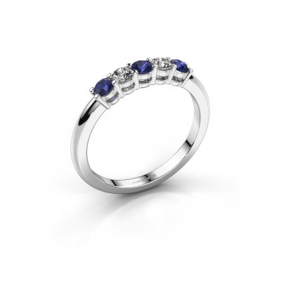 Picture of Promise ring Michelle 5 925 silver sapphire 2.7 mm