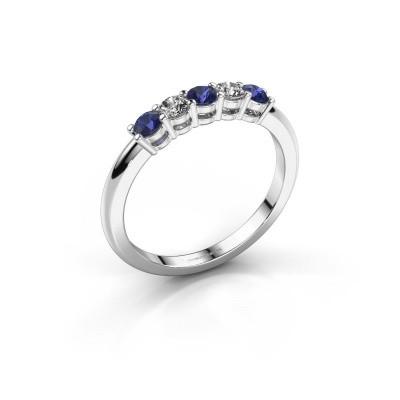 Foto van Promise ring Michelle 5 925 zilver saffier 2.7 mm
