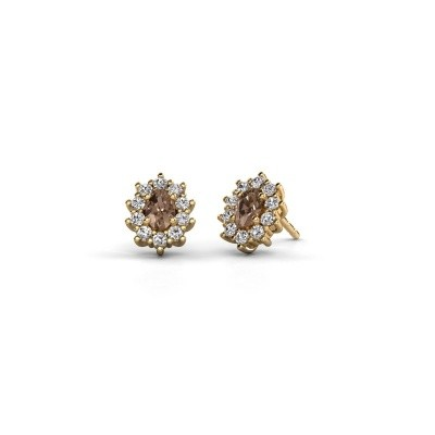 Ohrringe Leesa 375 Gold Braun Diamant 1.60 crt