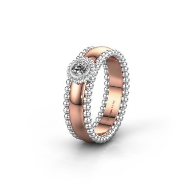 Trouwring WH3053L16A 585 rosé goud lab-grown diamant ±6x1.7 mm