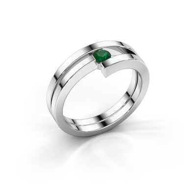Ring Nikia 925 zilver smaragd 3.4 mm