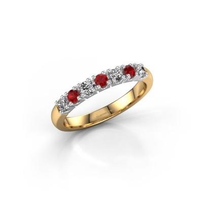 Foto van Belofte ring Rianne 7 585 goud robijn 2.4 mm