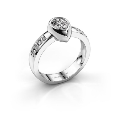 Ring Charlotte Pear 925 silver lab-grown diamond 0.80 crt