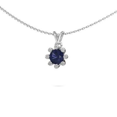 Picture of Pendant Carola 2 950 platinum sapphire 6 mm
