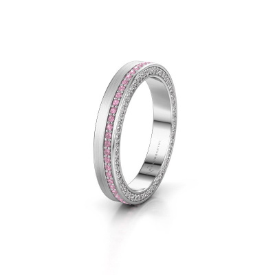 Wedding ring WH2214L15BM 925 silver pink sapphire 1 mm ±0.14x0.08 in