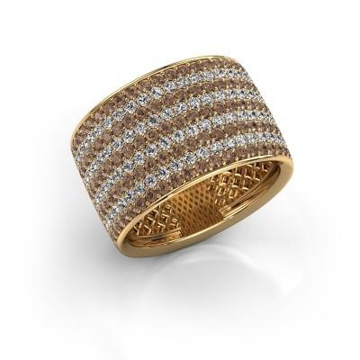 Ring Macy 375 goud bruine diamant 2.26 crt