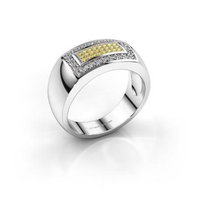 Foto van Mannen ring Lorenzo 925 zilver gele saffier 1.1 mm