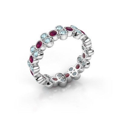 Ring Victoria 925 silver rhodolite 2.4 mm