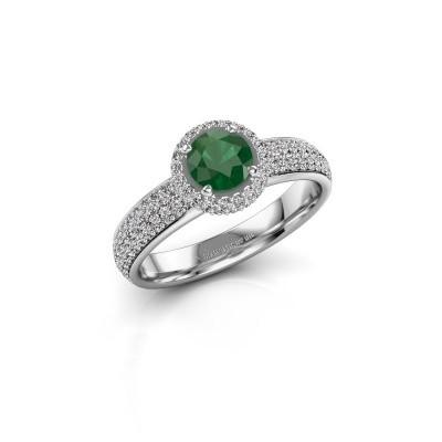 Engagement ring Mildred 950 platinum emerald 5 mm
