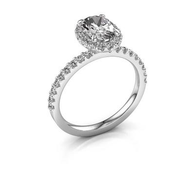 Foto van Verlovingsring Miranda ovl 585 witgoud lab-grown diamant 1.642 crt