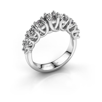 Engagement ring Fatima 925 silver zirconia 3.7 mm