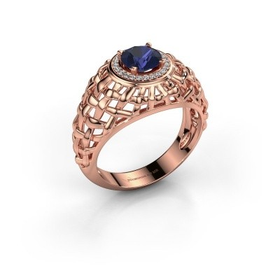 Pinky ring Jens 375 rose gold sapphire 6.5 mm