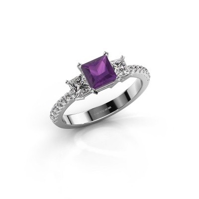 Engagement ring Dorla 925 silver amethyst 5 mm