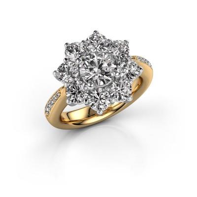 Foto van Verlovingsring Carolyn 2 585 goud diamant 1.00 crt