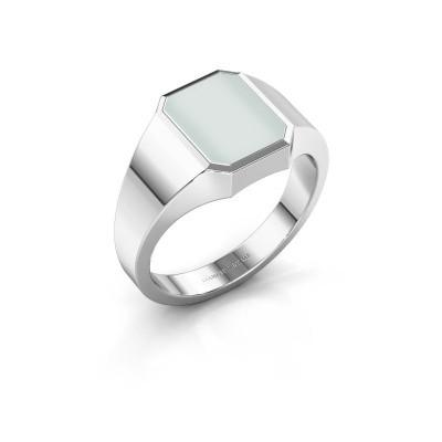Signet ring Glenn 1 925 silver green sardonyx 10x8 mm