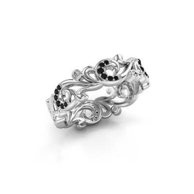 Bild von Ring Svetlana 925 Silber Schwarz Diamant 0.275 crt