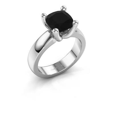 Ring Clelia CUS 925 zilver zwarte diamant 3.60 crt