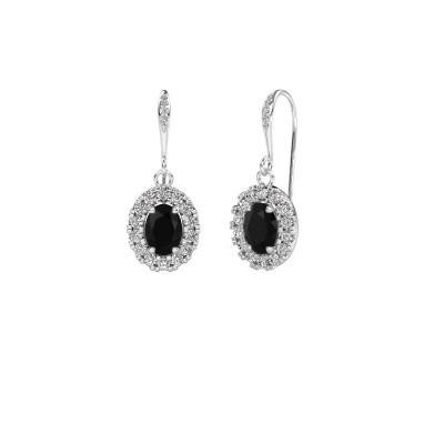 Foto van Oorhangers Jorinda 2 950 platina zwarte diamant 2.51 crt